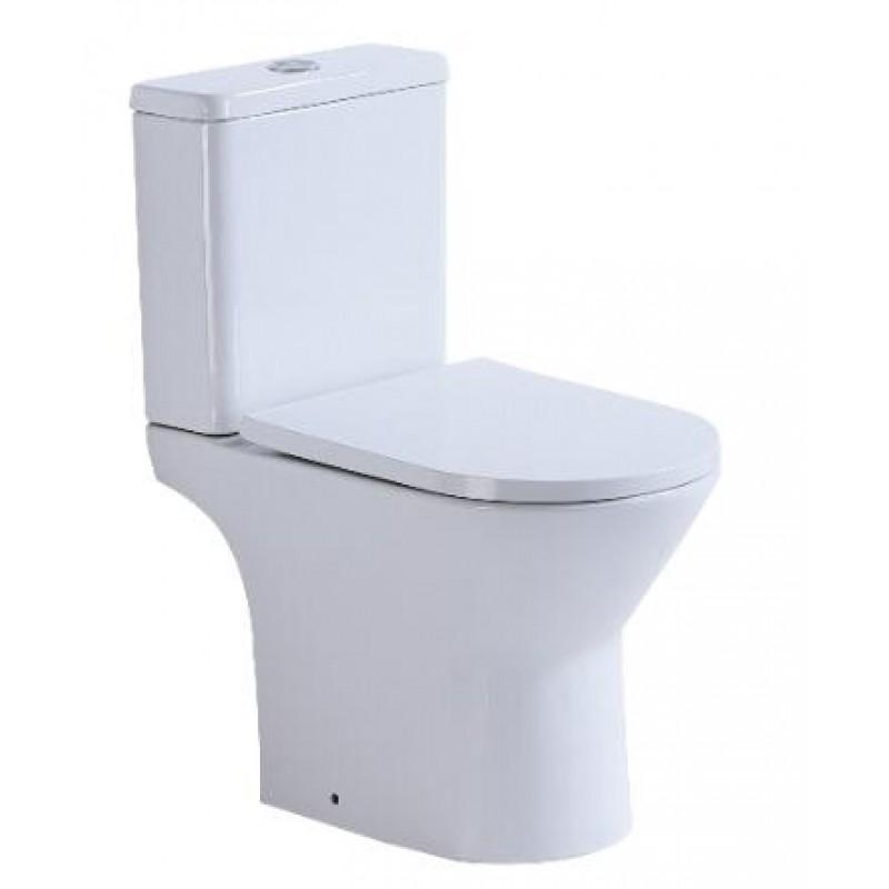 R620 感應 Rimless無框沖水 相連式 自由咀 納米座廁 連緩衝降板
