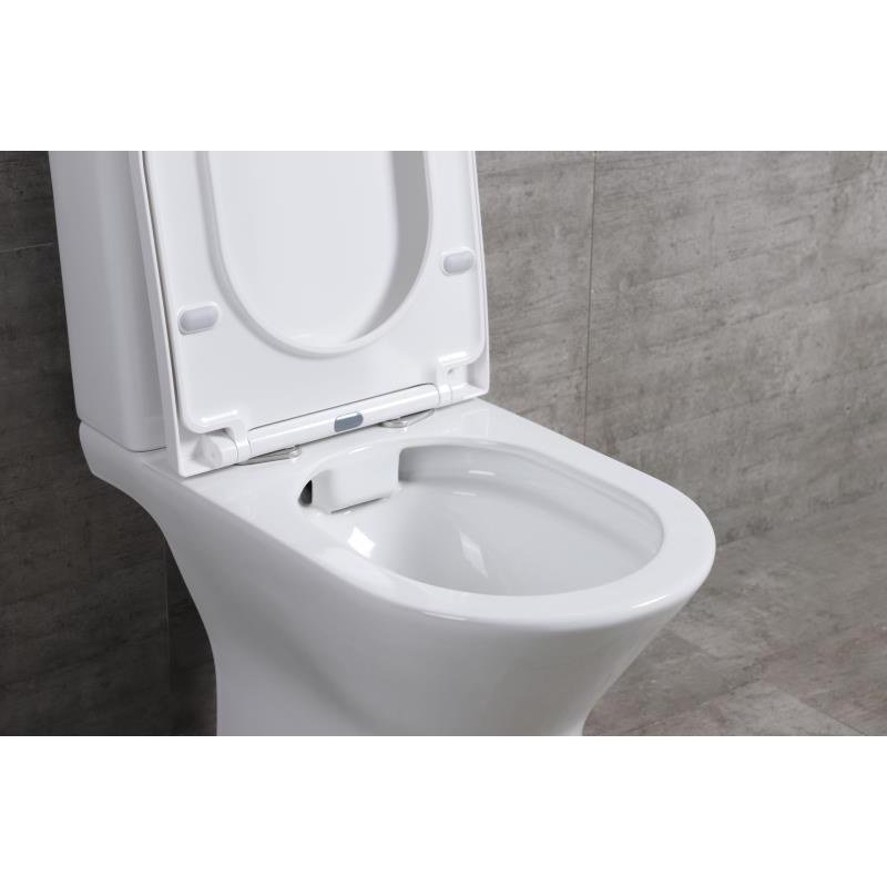 9折優惠 R690 Rimless 無框沖水 相連式 自由咀 納米座廁 連緩衝降板 (原價HK$1800)