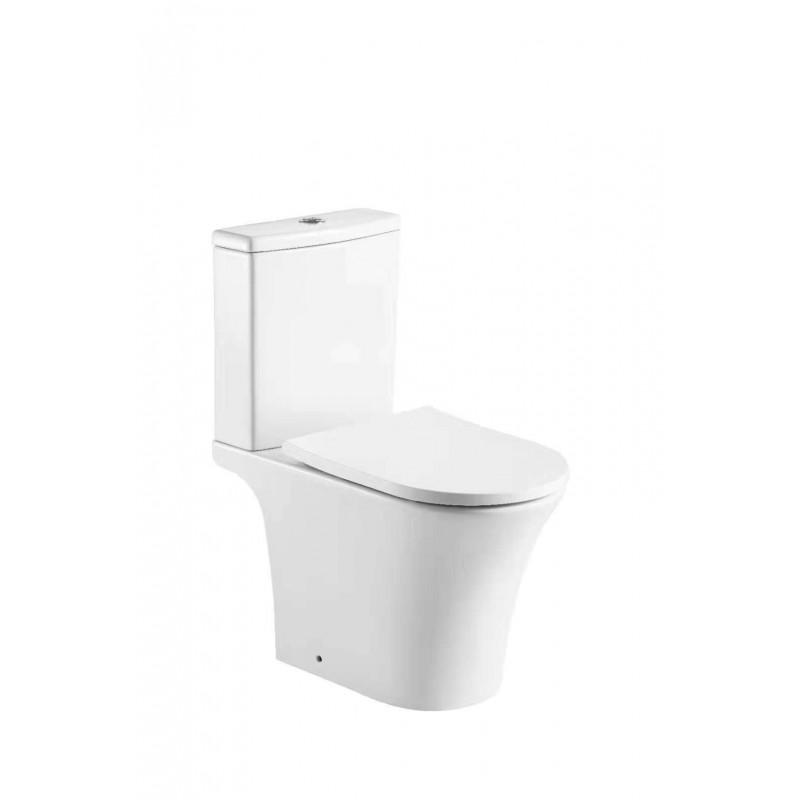 相連式自由咀座廁 連緩衝降板 R692